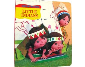 Little Indians Storytime Pals Series With Puppet Illustrations - Tadasu Izawa - Puppet Photos - Picture Book - Kids Books - Board Book