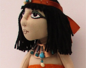 "Chione ""daughter of the Nile"" cloth doll sewing pattern."