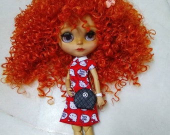 Luxurious crossbody bag for Barbie, Blythe and other 12 inch dolls