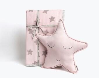 Sleepy Star-Organic Baby Gift, Baby Shower Gift Ideas, Baby Girl Gift, Baby Cushion, Star Baby Cushion, Baby Gift, Baby Shower Gift Ideas