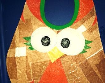 Fused Plastic Owl Bib