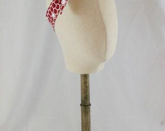 Red Hexagon Honeycomb 4-Way Reversible Headband