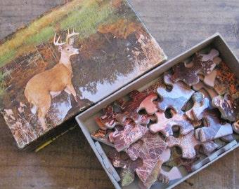 Vintage Swamp Buck Mini Puzzle