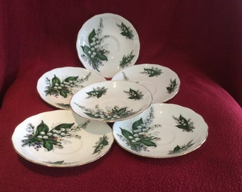 Queen Anne Lily of the Valley Tea Saucer