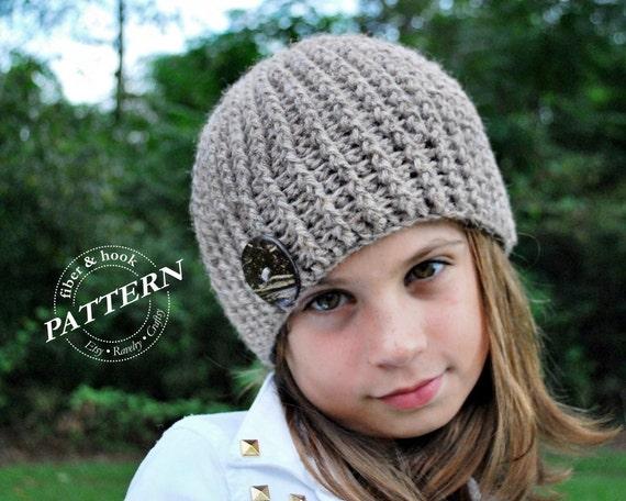 Crochet Pattern Crochet Ribbed Beanie Pattern Beanie Crochet