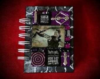 Hawkeye A7 pocket journal. Mosaic. Clint Barton. Jeremy Renner. Avengers. Hawk eye.