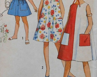 Vintage Girls Dress Sewing Pattern UNCUT Size 12 Simplicity 5304