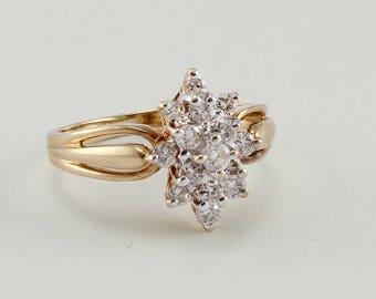 Twinkling Star Diamond Ring