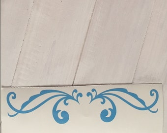 DIY Vinyl Accent Scrolls or Flourish Home Decor