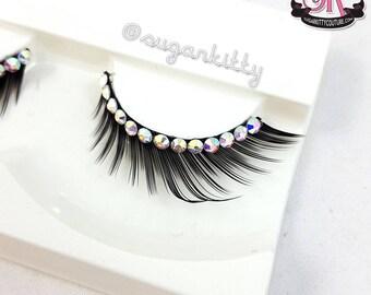 Designer Fringe Rhinestone Eyelashes Semi-Custom - 4 Styles - SugarKitty Couture