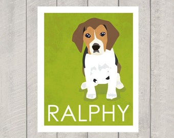 Beagle Art Print - Custom Dog Art