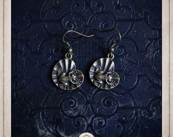Frog earrings in bronze BOB060