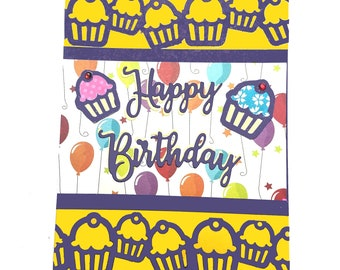 Handmade greeting card: Happy Birthday