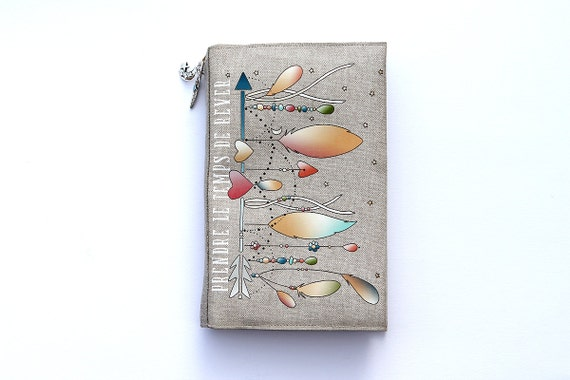 """Protects book of Pocket linen illustrated """"time to dream"""""""