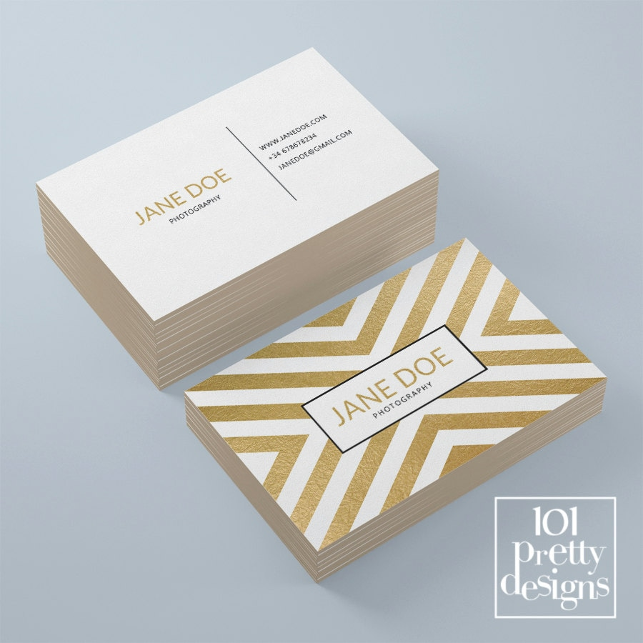 Golden business card template elegant business card design