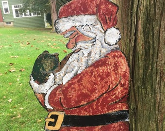 Large Outside Hand Painted Santa!