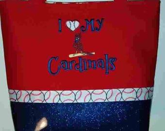 """Cardinals """"I Love My Cardinals"""" Purse"""