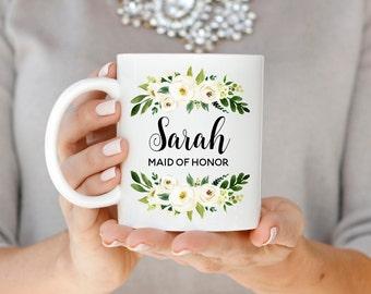 Maid of Honor Mug, Maid of Honor Gift, Proposal Mug, Maid of Honor Name Mug, Personalized Bridesmaid Mug, Gift for Maid of Honor