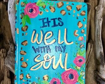 Hand painted NIV journal Bible