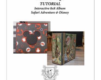 Scrapbook Tutorial - 8x8 Album 12 Pages Safari Adventure &/or Disney