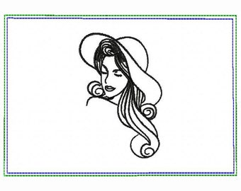 Modern Ladies 06A Small Money Purse - In The Hoop Machine Embroidery Design