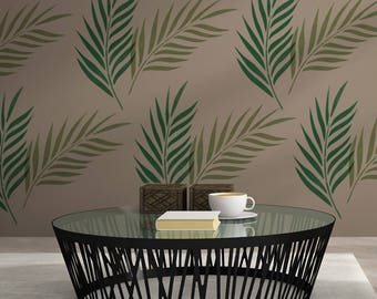 CraftStar Large Palm Leaf Stencil  - Reuseable Palm Frond Tropical Stencil