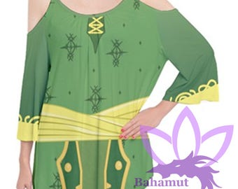 Rydia or Rosa Flutter Sleeve Cotton T Shirt Final Fantasy 4