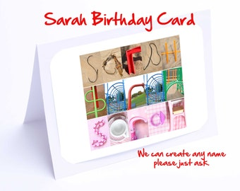 Sarah Personalised Birthday Card