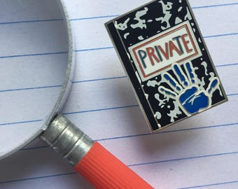 Private Journal Limited Edition 90s Glow in the Dark Enamel Pin
