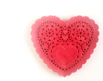 """Red Heart Paper Doilies 5"""" - Set of 20"""