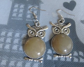 Earrings Owl