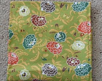 Amy Butler Gypsy Caravan Fabric - Gypsy Mum in Pesto - 1 Yard - Designer Fabric Destash Green Floral Flowers Pretty Girl