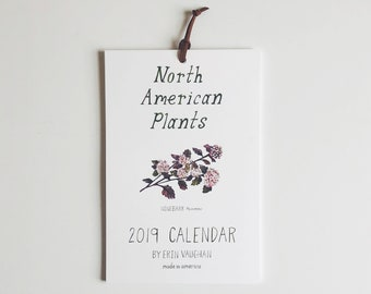2019 North American Plants Calendar- 6 x 9