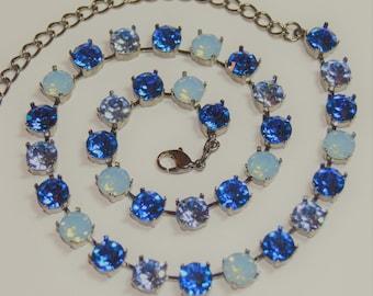 Baby Blue Swarovski Crystal Necklace