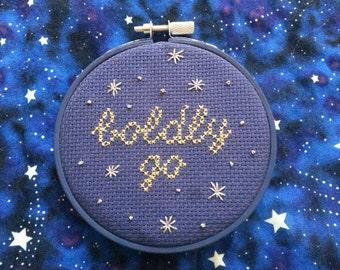 Boldly Go - Star Trek pattern - cross stitch sampler - instant download pdf