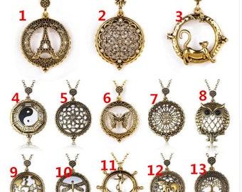 5X Power Magnifier Glass Necklace Pendant Monocle Magnifying Glass Necklace Pendant D61