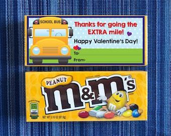 Bus Driver Valentine - Instant Download - Valentine's Day Digital Printable -  Digital Valentines - Kids Valentines - School Bus Valentine