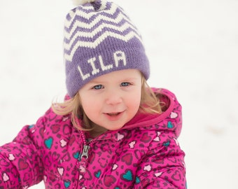 Personalized hat, name hat, winter personalized hat, boy, girl, child hat, birthday gift, knit hat, knit personalized hat, personalized gift