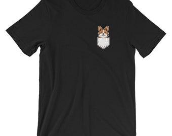 Welsh Corgi Pocket Detail T-shirt