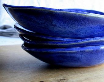 Dinnerware, Ceramic Bowls, Blue Stoneware, Handmade bowl, salad bowl, pasta bowl, Lead Free, Food Safe