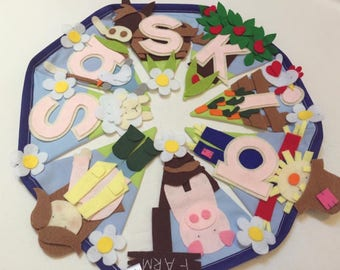 Farmyard animal nursery bunting decoration