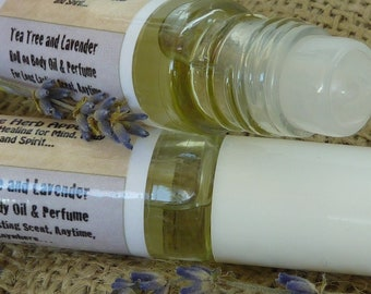 Tea Tree and Lavender Roll-on All Natural Body Oil and Perfume 10 ml