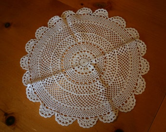 "13"" Round Handmade Crocheted Lace  Doilies"