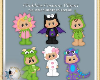 Baby Clipart, Halloween, Easter, Chubbies Costume