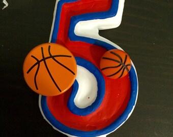 Basketball Birthday Candle