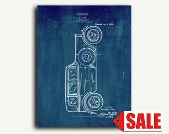 Patent Art - Automobile Body Patent Wall Art Print