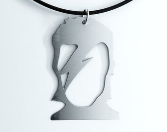 David Bowie Aladdin Sane Pendant, Key Chain or Earrings