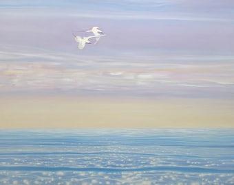 LARGE ORIGINAL Oil Painting - Ocean Dancers