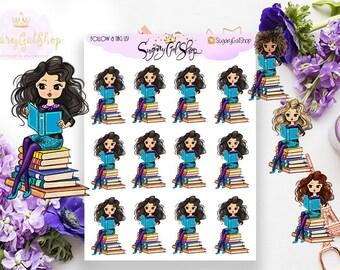 Miss Glam Lady D Bookworm Sticker Sheet