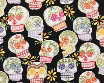 Black skull head Alexander Henry fabric